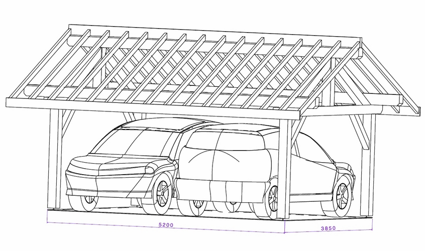 plan abri voiture maison design. Black Bedroom Furniture Sets. Home Design Ideas